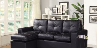 Designer L Shaped Corner Sofa black