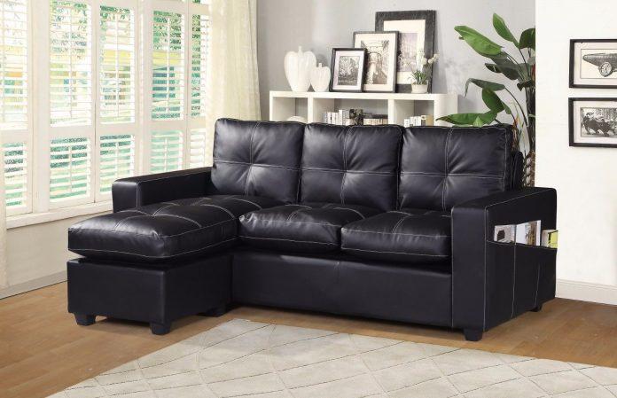 Designer L Shaped Corner Sofa black
