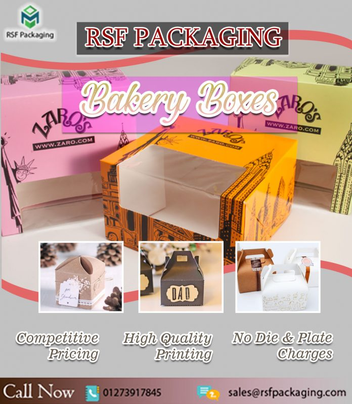 Custom Printed Bakery boxes