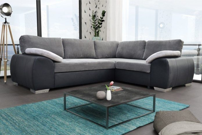 Colorado Corner Sofabed Suite Couch Corner Group in Black/Grey Left or Right