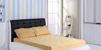 King Size Faux Leather Black & White Designer Bed Frame - Bedroom Furniture Sale