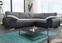 Colorado Corner Sofa Bed Suite Couch Corner Group in Black/Grey Left or Right