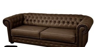 Chesterfield Style Venus Sofa Bed 2 Seater Black Cream Brown Red Faux Leather